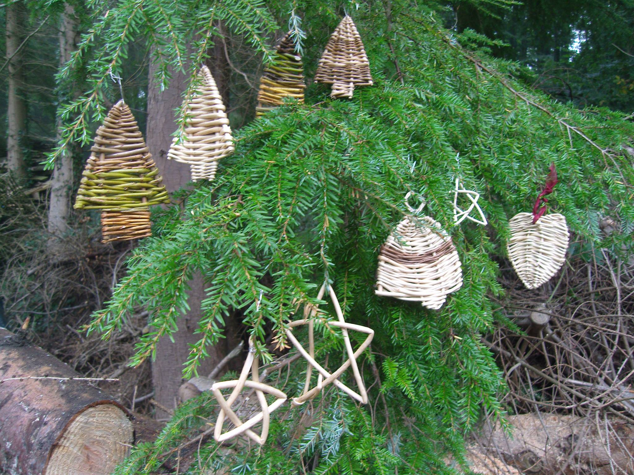 Wicker Christmas decorations
