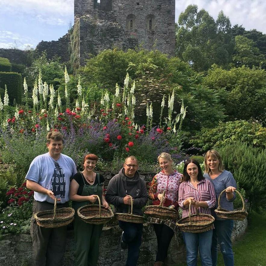 Wicker Basket making courses at Usk Castle