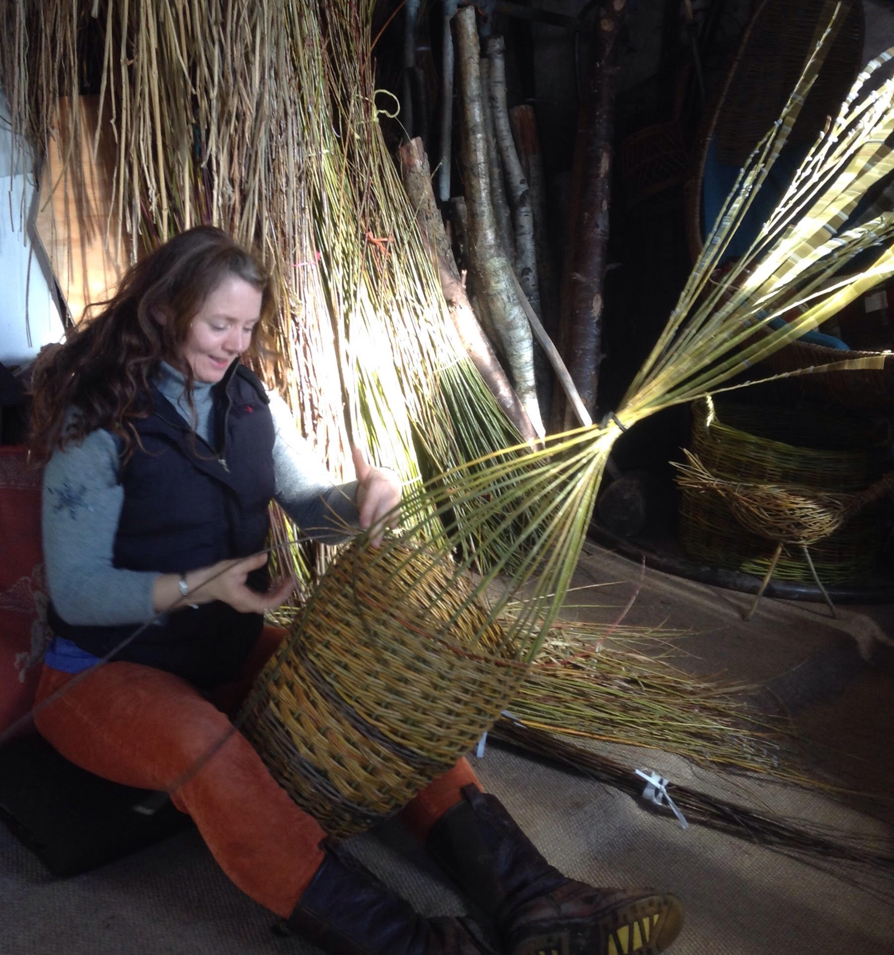 Willow weaving demonstration Amanda Rayner